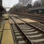 Photo taken at SEPTA St. Davids Station Inbound Platform by Kim K. on 4/11/2013