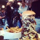 Photo taken at Stella's Hamburgers by Brent C. on 10/28/2012