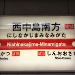 Photo taken at 西中島南方駅 (Nishinakajima-Minamigata Sta.) (M14) by Lasakongawa on 11/24/2012