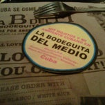 Photo taken at La Bodeguita del Medio by Marie d. on 4/30/2011