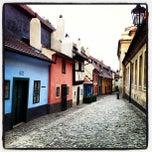 Photo taken at Zlatá ulička | The Golden Lane by Mauro L. on 6/8/2013