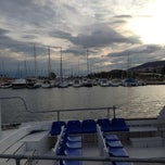 Photo taken at Club Nautico Sant Carles de la Rapita by Jordi on 10/12/2012