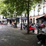 Photo taken at Place du Marché Sainte-Catherine by jeffrey g. on 8/22/2011