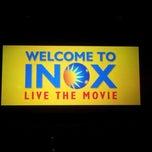 Photo taken at Inox by Soumya D. on 12/16/2012