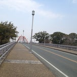 Photo taken at 船小屋温泉大橋 by kanjitalk on 1/1/2014