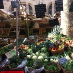 Photo taken at Marché de Raspail by Margot on 3/3/2013