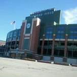 Photo taken at Lambeau Field by Kelly J. on 10/12/2012