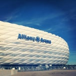 Photo taken at Allianz Arena by Gabriela P. on 10/17/2012