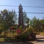 Photo taken at Monumen Tiga Pena by Ipoel H. on 8/20/2013