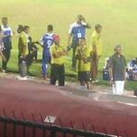 Photo taken at Stadion Wijayakusuma Cilacap by Lynda S. on 9/24/2014
