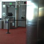 Photo taken at Gate C41 by Jerry H. on 4/10/2013