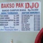 Photo taken at Bakso Pak Djo by Signore K. on 11/6/2012