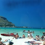 Photo taken at Spiaggia di Mondello by Valeria B. on 7/2/2013