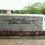 Photo taken at Jakarta International Korean School by Arina P. on 3/12/2013