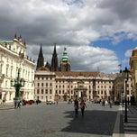 Photo taken at Malostranské náměstí by Steven S. on 5/20/2013