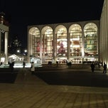 Photo taken at Lincoln Center Plaza (Josie Robertson Plaza) by Sergey S. on 1/4/2013