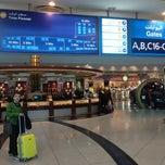 Photo taken at Emirates Lounge by Yiannis K. on 12/30/2012