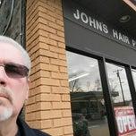Photo taken at John's Hair Place by John F. on 1/22/2015