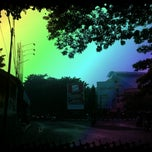 Photo taken at GOR Jalan Baru by Andi M. on 4/19/2013