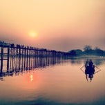 Photo taken at U Bein Bridge by Jude L. on 4/2/2013