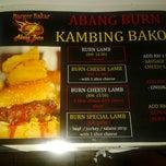 Photo taken at Burger Bakar Abang Burn by Zainab Z. on 11/21/2012