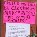 Photo taken at Fruit King by Jeremy B. on 4/3/2012