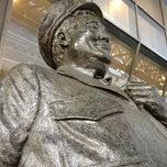 Photo taken at Ralph Kramden Statue by Rob on 3/14/2013