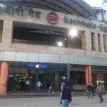 Photo taken at Kashmere Gate Metro Station by Sam P. on 12/10/2012