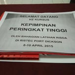 Photo taken at Pusat Latihan RISDA (RISTEC) by Zaimie Z. on 4/9/2015