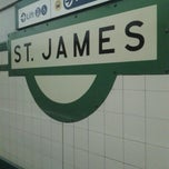 Photo taken at St James Station by Ean S. on 10/6/2013