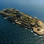 Photo taken at 端島 (軍艦島) Hashima (Gunkanjima) Island by Nigella S. on 6/6/2013