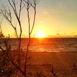 Photo taken at Gaujas pludmale by Annija M. on 6/10/2013