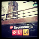 Photo taken at METRO Urquinaona by Евгений Ф. on 2/21/2013