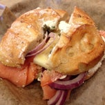Photo taken at Noah's New York Bagels by Laura T. on 12/20/2013