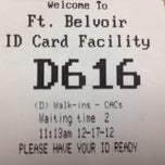 Photo taken at Fort Belvoir ID Card Center by Ching Y. on 12/17/2012