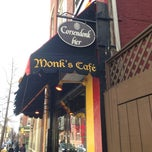 Photo taken at Monks Belgian Cafe by Tom S. on 3/30/2013