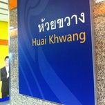 Photo taken at MRT ห้วยขวาง (Huai Khwang) HUI by One S. on 3/14/2013
