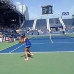 Photo taken at Grandstand - USTA Billie Jean King National Tennis Center by Laura P. on 9/2/2014