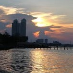 Photo taken at Ancol Beach by Vinny L. on 2/7/2013