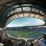 Photo taken at ОСК «Металіст» / Metalist Stadium by Oleg Y. on 7/26/2013