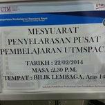 Photo taken at UTMspace Kuala Lumpur by Ni S. on 2/22/2014