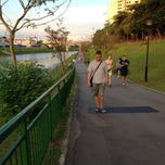 Photo taken at Yew Tee Canal Jogging Track by Joni Rose T. on 7/7/2013