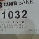 Photo taken at CIMB Bank by dennis w. on 5/28/2013