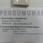Photo taken at PT. PLN (Persero) Wilayah Sumatera Utara by Boturan Ratna Sari P. on 5/13/2014