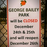 Photo taken at George Bailey Park by David L. on 12/24/2014