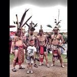 Photo taken at Rumah Adat Betang by Gumay V. on 5/20/2014