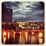 Photo taken at WaterFire Providence - Waterplace Park by Brett L. on 6/9/2013
