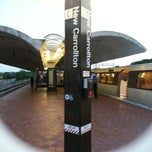 Photo taken at New Carrollton Metro Station by Kennya S. on 6/26/2013