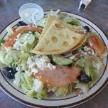 Photo taken at Nikos Steak Burgers & Greek Food by Frank D. on 2/13/2013