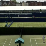 Photo taken at Queen's Club - Court 1 by Yoyo Y. on 6/8/2013